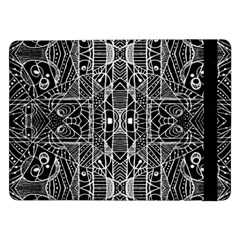 Black and White Tribal Geometric Pattern Print Samsung Galaxy Tab Pro 12.2  Flip Case