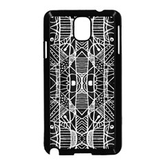 Black and White Tribal Geometric Pattern Print Samsung Galaxy Note 3 Neo Hardshell Case (Black)