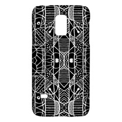 Black and White Tribal Geometric Pattern Print Samsung Galaxy S5 Mini Hardshell Case