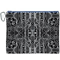 Black and White Tribal Geometric Pattern Print Canvas Cosmetic Bag (XXXL)