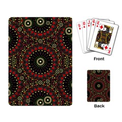 Digital Abstract Geometric Pattern In Warm Colors Playing Cards Single Design