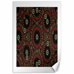 Digital Abstract Geometric Pattern In Warm Colors Canvas 24  X 36  (unframed)
