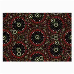 Digital Abstract Geometric Pattern in Warm Colors Glasses Cloth (Large, Two Sided)