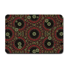 Digital Abstract Geometric Pattern In Warm Colors Small Door Mat