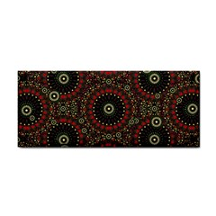 Digital Abstract Geometric Pattern In Warm Colors Hand Towel
