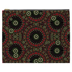 Digital Abstract Geometric Pattern In Warm Colors Cosmetic Bag (xxxl)