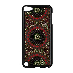 Digital Abstract Geometric Pattern In Warm Colors Apple Ipod Touch 5 Case (black)