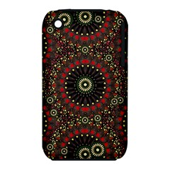 Digital Abstract Geometric Pattern in Warm Colors Apple iPhone 3G/3GS Hardshell Case (PC+Silicone)