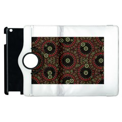 Digital Abstract Geometric Pattern in Warm Colors Apple iPad 2 Flip 360 Case