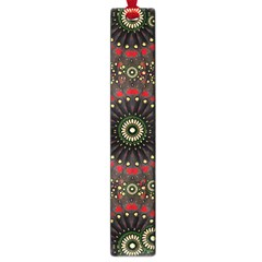 Digital Abstract Geometric Pattern In Warm Colors Large Bookmark