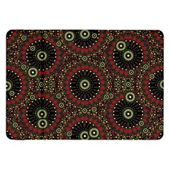 Digital Abstract Geometric Pattern in Warm Colors Samsung Galaxy Tab 8.9  P7300 Flip Case