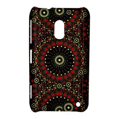 Digital Abstract Geometric Pattern in Warm Colors Nokia Lumia 620 Hardshell Case