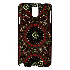 Digital Abstract Geometric Pattern In Warm Colors Samsung Galaxy Note 3 N9005 Hardshell Case