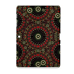 Digital Abstract Geometric Pattern in Warm Colors Samsung Galaxy Tab 2 (10.1 ) P5100 Hardshell Case