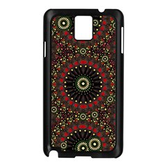 Digital Abstract Geometric Pattern in Warm Colors Samsung Galaxy Note 3 N9005 Case (Black)