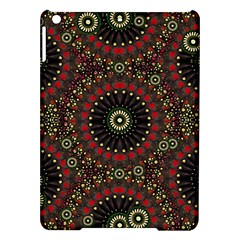 Digital Abstract Geometric Pattern in Warm Colors Apple iPad Air Hardshell Case