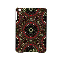 Digital Abstract Geometric Pattern in Warm Colors Apple iPad Mini 2 Hardshell Case