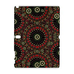 Digital Abstract Geometric Pattern in Warm Colors Samsung Galaxy Note 10.1 (P600) Hardshell Case