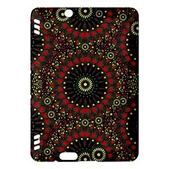 Digital Abstract Geometric Pattern in Warm Colors Kindle Fire HDX Hardshell Case