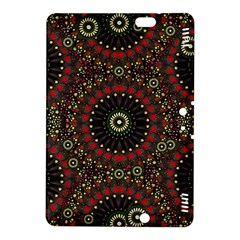 Digital Abstract Geometric Pattern in Warm Colors Kindle Fire HDX 8.9  Hardshell Case