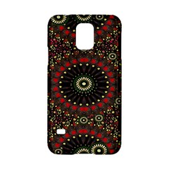 Digital Abstract Geometric Pattern In Warm Colors Samsung Galaxy S5 Hardshell Case