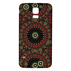 Digital Abstract Geometric Pattern In Warm Colors Samsung Galaxy S5 Back Case (white)