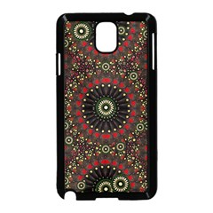 Digital Abstract Geometric Pattern in Warm Colors Samsung Galaxy Note 3 Neo Hardshell Case (Black)