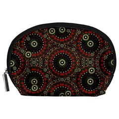 Digital Abstract Geometric Pattern in Warm Colors Accessory Pouch (Large)