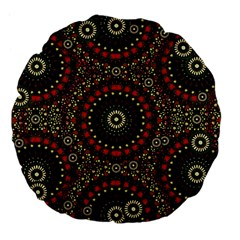 Digital Abstract Geometric Pattern in Warm Colors 18  Premium Flano Round Cushion