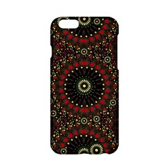 Digital Abstract Geometric Pattern In Warm Colors Apple Iphone 6 Hardshell Case