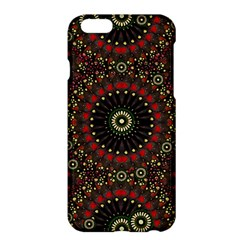 Digital Abstract Geometric Pattern in Warm Colors Apple iPhone 6 Plus Hardshell Case