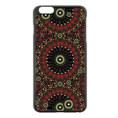 Digital Abstract Geometric Pattern in Warm Colors Apple iPhone 6 Plus Black Enamel Case