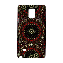 Digital Abstract Geometric Pattern in Warm Colors Samsung Galaxy Note 4 Hardshell Case
