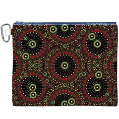 Digital Abstract Geometric Pattern in Warm Colors Canvas Cosmetic Bag (XXXL)