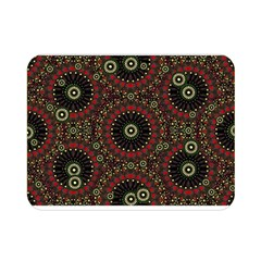 Digital Abstract Geometric Pattern in Warm Colors Double Sided Flano Blanket (Mini)