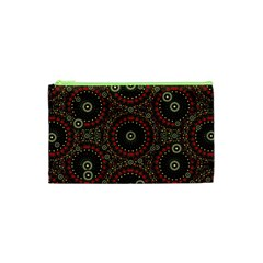 Digital Abstract Geometric Pattern in Warm Colors Cosmetic Bag (XS)
