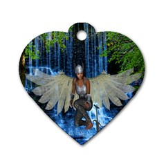 Magic Sword Dog Tag Heart (one Sided)