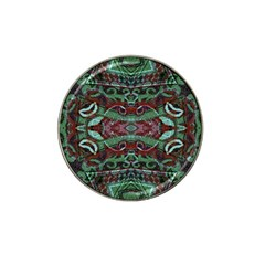 Tribal Ornament Pattern In Red And Green Colors Golf Ball Marker 4 Pack (for Hat Clip)