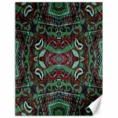 Tribal Ornament Pattern In Red And Green Colors Canvas 18  X 24  (unframed)