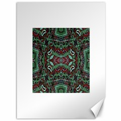 Tribal Ornament Pattern in Red and Green Colors Canvas 36  x 48  (Unframed)