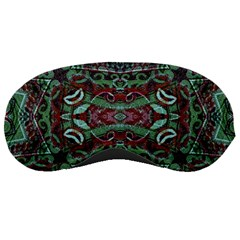 Tribal Ornament Pattern In Red And Green Colors Sleeping Mask