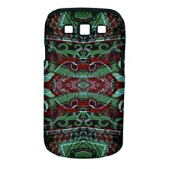 Tribal Ornament Pattern in Red and Green Colors Samsung Galaxy S III Classic Hardshell Case (PC+Silicone)