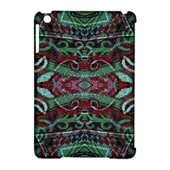 Tribal Ornament Pattern In Red And Green Colors Apple Ipad Mini Hardshell Case (compatible With Smart Cover)