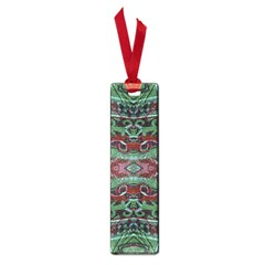 Tribal Ornament Pattern In Red And Green Colors Small Bookmark