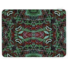 Tribal Ornament Pattern In Red And Green Colors Samsung Galaxy Tab 7  P1000 Flip Case