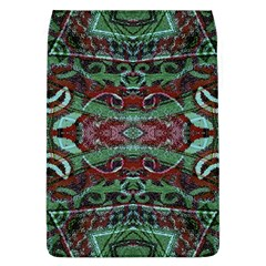 Tribal Ornament Pattern In Red And Green Colors Removable Flap Cover (large)