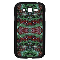 Tribal Ornament Pattern In Red And Green Colors Samsung Galaxy Grand Duos I9082 Case (black)