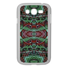 Tribal Ornament Pattern in Red and Green Colors Samsung Galaxy Grand DUOS I9082 Case (White)