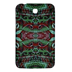 Tribal Ornament Pattern in Red and Green Colors Samsung Galaxy Tab 3 (7 ) P3200 Hardshell Case