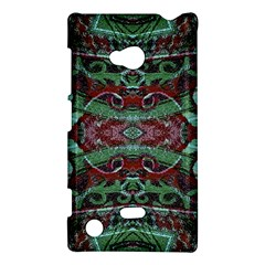 Tribal Ornament Pattern In Red And Green Colors Nokia Lumia 720 Hardshell Case